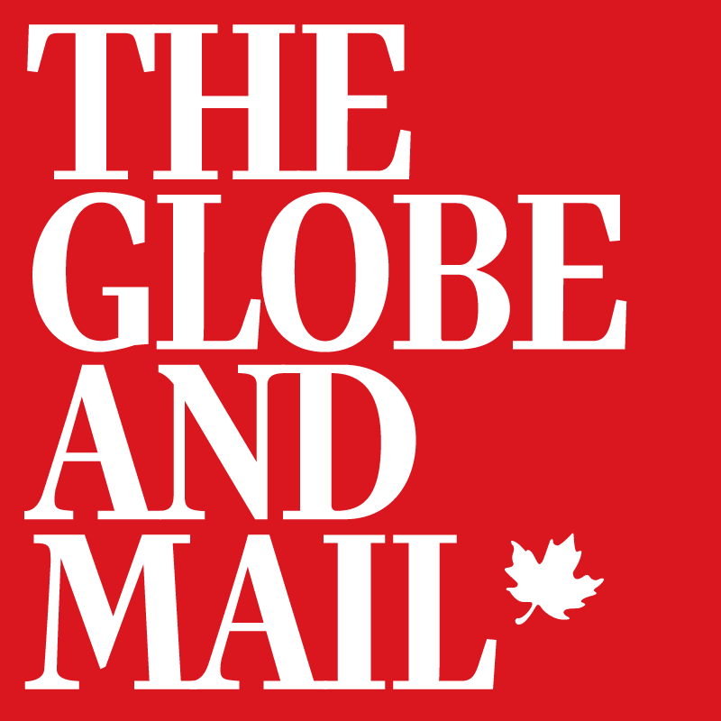 The Globe and Mail Logo for Article Featuring British Columbia ranches and Cascadia Realty